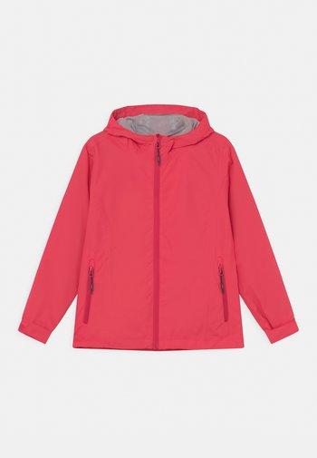 RAIN FIX HOOD - Waterproof jacket - corallo