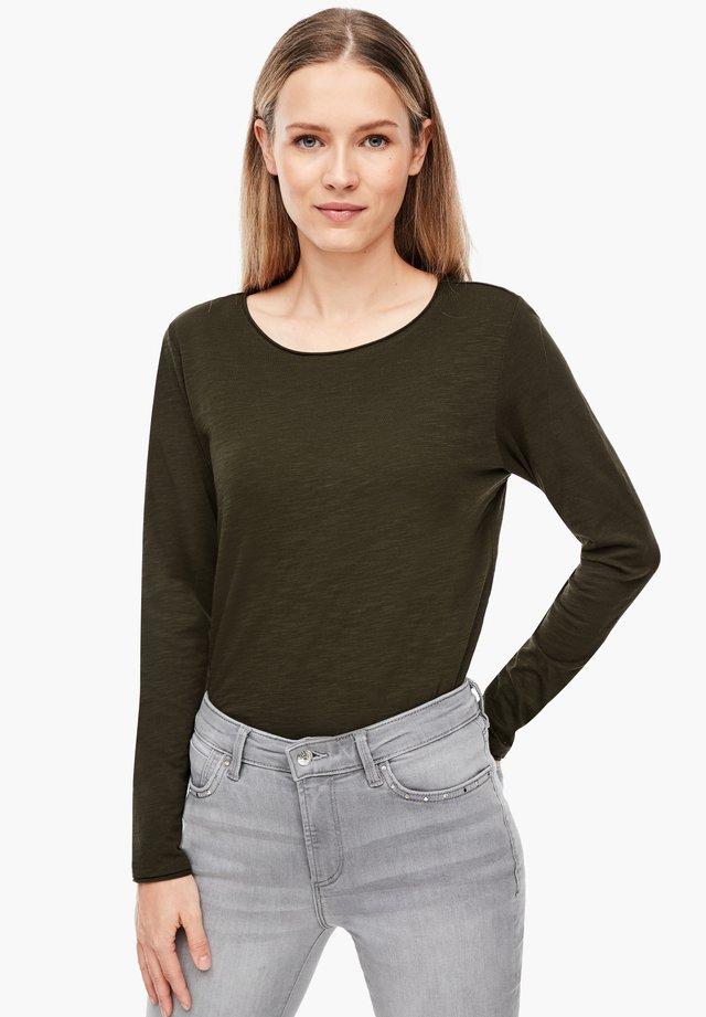 AUS SLUB YARN - Long sleeved top - khaki