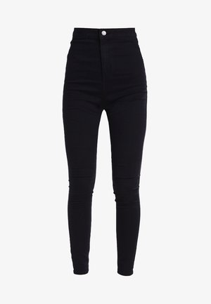 NMELLA SUPER  - Jeansy Skinny Fit - black