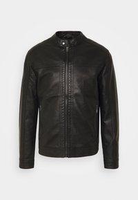 Jack & Jones - JORWARNER JACKET - Faux leather jacket - black - 3
