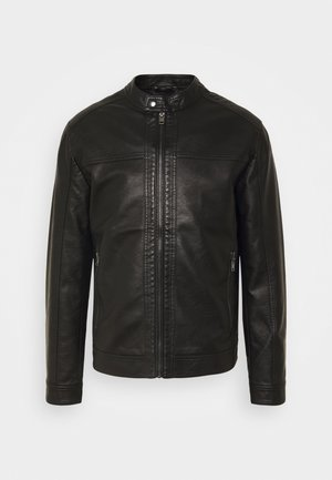 JORWARNER JACKET - Faux leather jacket - black
