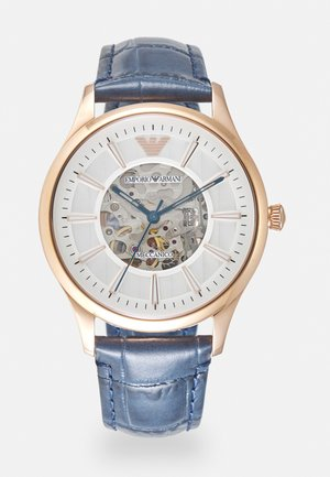 Watch - rosegold-coloured/blue