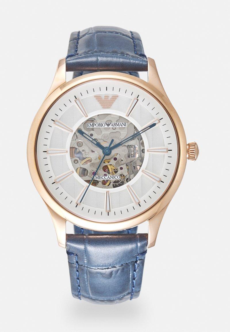 Emporio Armani - Watch - rosegold-coloured/blue