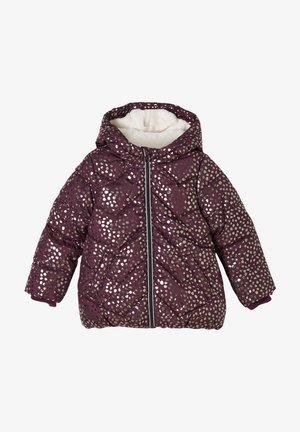 Winter coat - purple aop