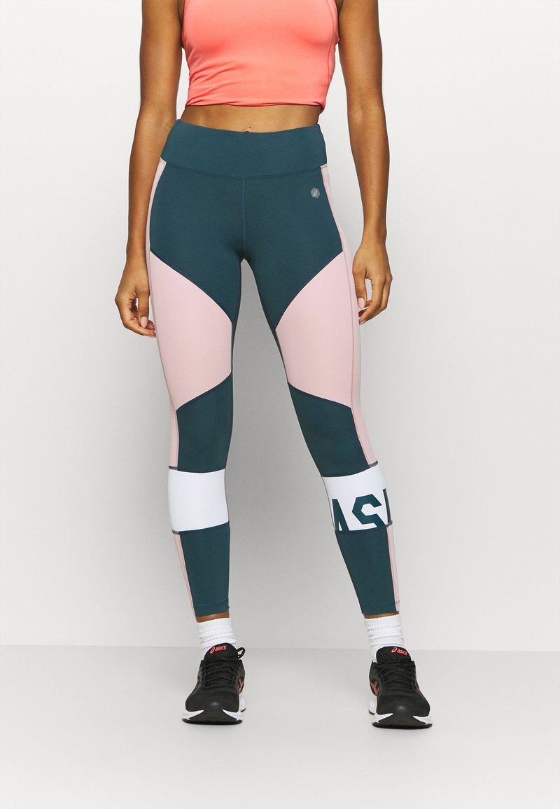 ASICS - COLOR BLOCK CROPPED  - Tights - magnetic blue