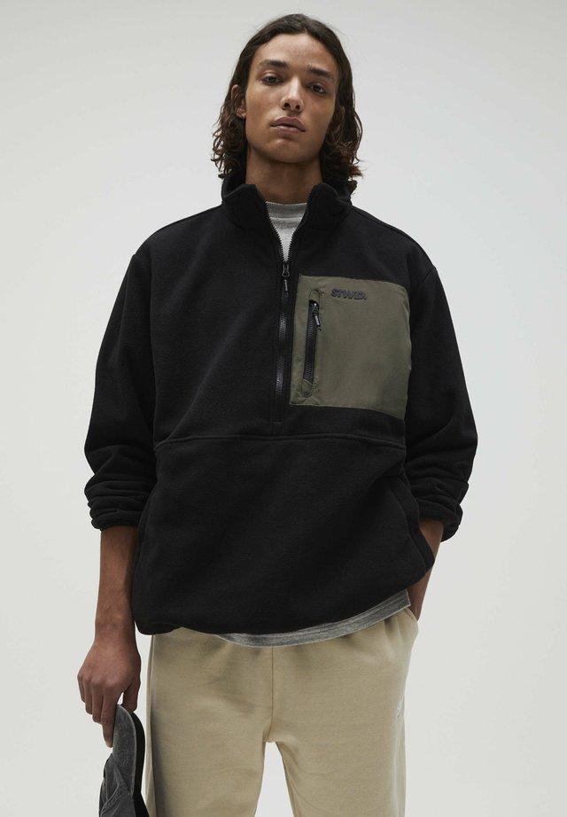Fleece trui - black