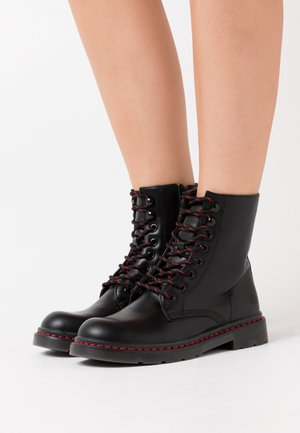 Lace-up ankle boots - allblack