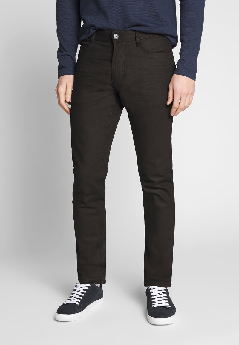TOM TAILOR - JOSH - Slim fit jeans - black denim