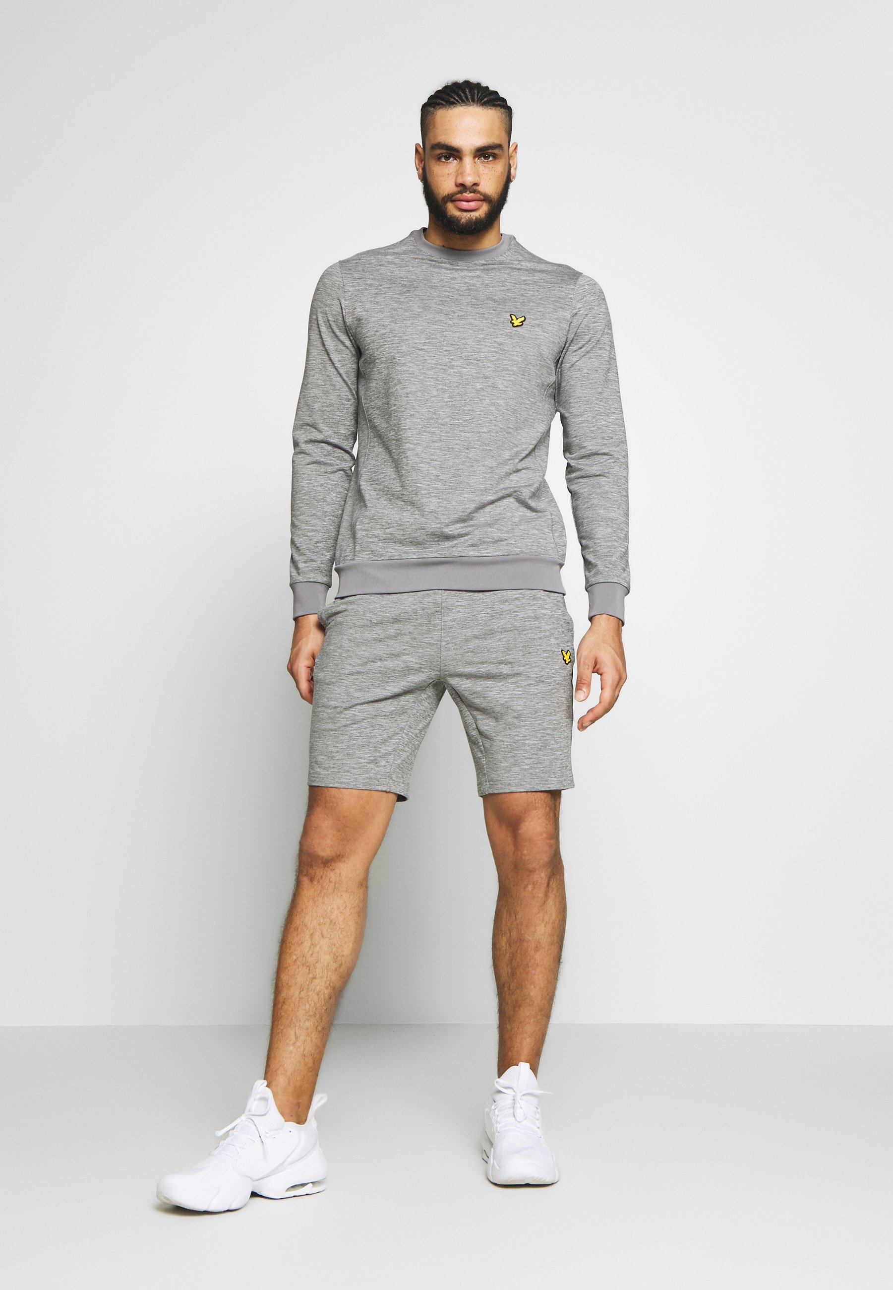 Lyle & Scott SUPERWICK CREW NECK MIDLAYER - Sweatshirt - mid grey marl