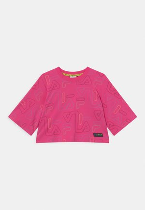 SAMIA WIDE CROPPED TEE UNISEX - T-Shirt print - fuchsia purple