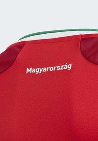 adidas Performance - HUNGARY HFF HOME AEROREADY JERSEY - Club wear - red - 5