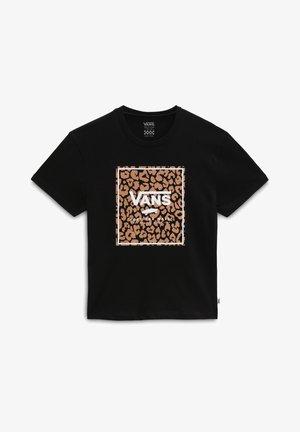 GR LEOPARD PRINT BOX - T-shirt print - black