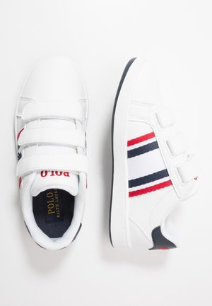 OAKLYN - Sneaker low - white/navy/red