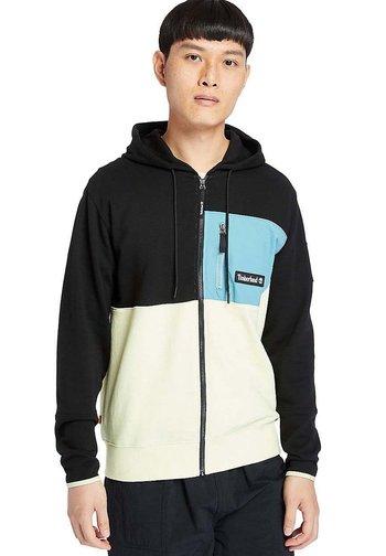 Zip-up sweatshirt - black/luminary/adriatic