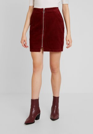 VMLOLA ZIPPER SKIRT - Mini skirt - madder brown