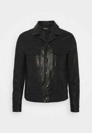 JACKET - Kožená bunda - black