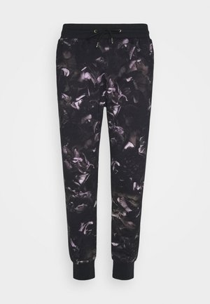 GENTS FLORAL PRINT JOGGER - Tracksuit bottoms - black