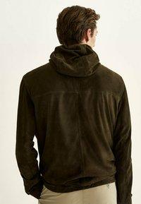 Massimo Dutti - Leather jacket - khaki - 1