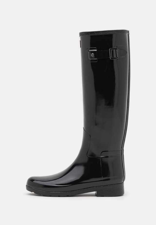 REFINED TALL GLOSS VEGAN - Gummistiefel - black