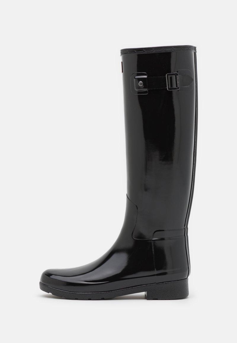 Hunter ORIGINAL - REFINED TALL GLOSS VEGAN - Wellies - black