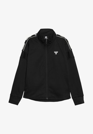 HMLASK ZIP JACKET - veste en sweat zippée - black