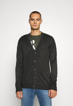 WHITLAW - Cardigan - charcoal/french navy