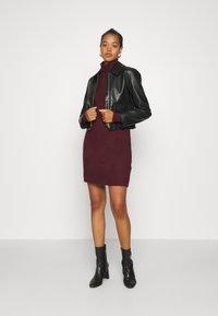 Vero Moda - VMLUCI ROLLNECK DRESS - Jumper dress - winetasting - 1