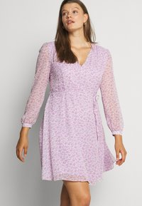 Glamorous Curve - SHEER LONGSLEEVE DRESS - Day dress - lilac lavender - 4