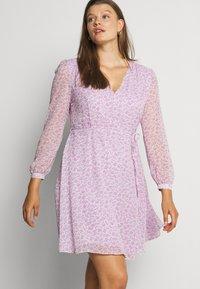 Glamorous Curve - SHEER LONGSLEEVE DRESS - Korte jurk - lilac lavender - 4