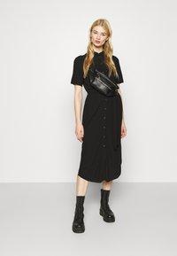 Pieces - PCCECILIE DRESS - Shirt dress - black - 1