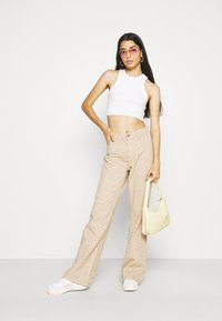 Jaded London - DISTRESSED SLOUCHY  - Bukse - putty - 1