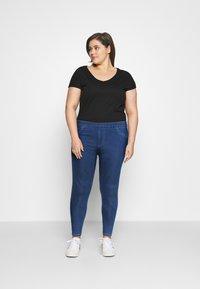 CAPSULE by Simply Be - SCULPTING SKINNY JEGGINGS - Jeans Skinny Fit - mid blue - 1
