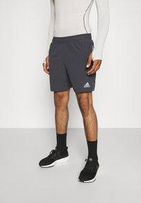 adidas Performance - TRAINING WORKOUT AEROREADY - Krótkie spodenki sportowe - solid grey - 0
