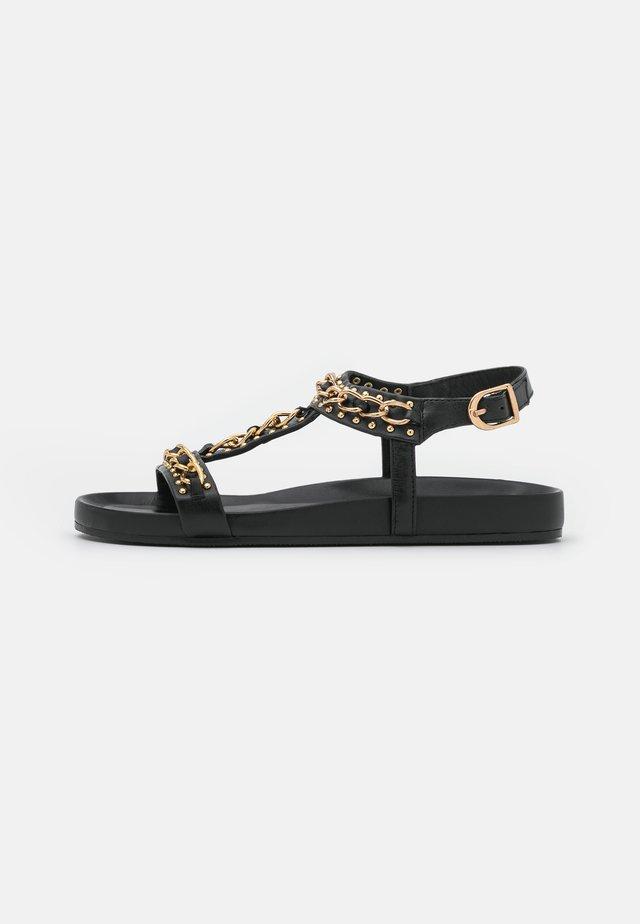 SO SERIOUS - Sandaalit nilkkaremmillä - black