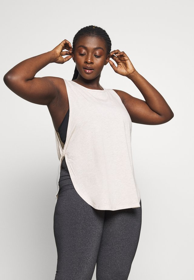CURVE SIDE TWIST TANK - Top - beige marle