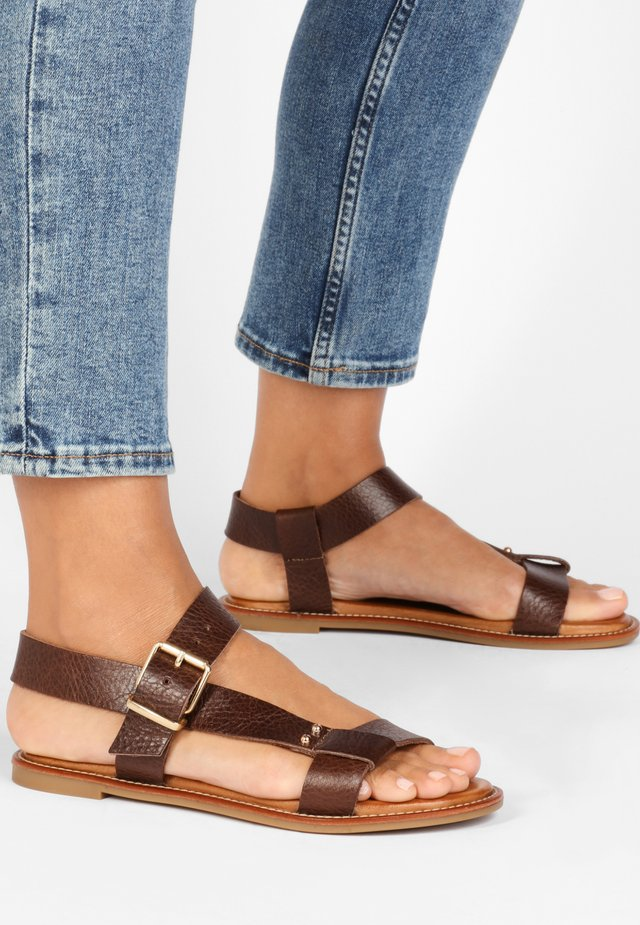 Sandały - mntrl brown nbr