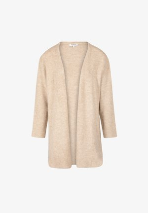 STRAIGHT WITH LONG SLEEVES - Cardigan - beige