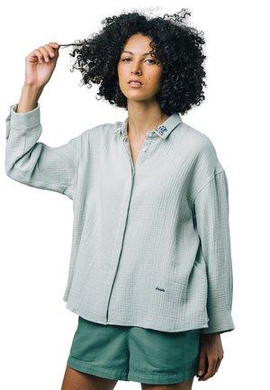 PURE QUARZ - Button-down blouse - green