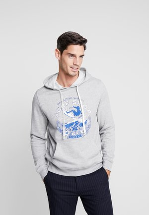 PRINTED GRAPHIC HOODY - Mikina s kapucí - light grey heather