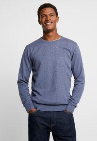 TOM TAILOR - Stickad tröja - vintage indigo blue melange - 0