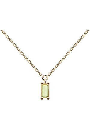 P D PAOLA DAMEN-KETTE 925ER SILBER ZIRKONIA - Necklace - gold