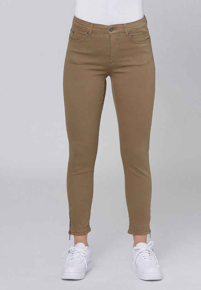 Jeans slim fit - camel
