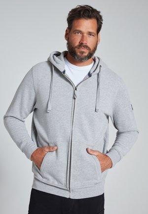 JP HOMME GRANDES TAILLES VESTE SWEAT - Sweater met rits - grau melange