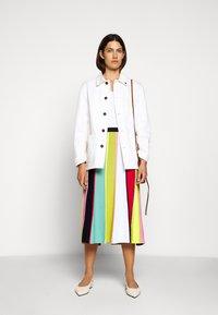 J.CREW - RAINBOW STRIPE SKIRT - A-line skirt - navy/bohemian rose/multi - 1