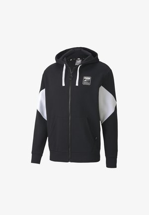 REBEL  - Zip-up hoodie - black