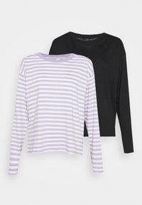 lilac purple/black solid
