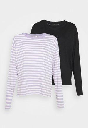 MAJA 2 PACK - Long sleeved top - lilac purple/black solid