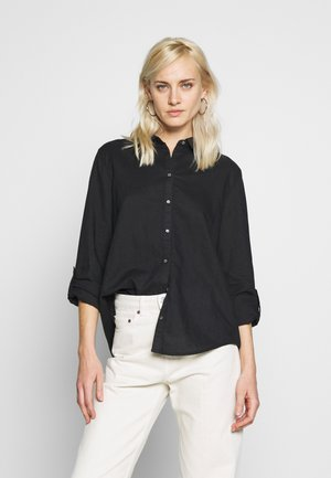 CORE - Button-down blouse - black