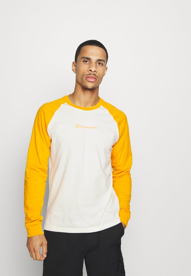 LEGACY CREWNECK LONG SLEEVE - Long sleeved top - off white/yellow