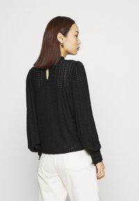 Vila - VIKATHY EMBROIDERY - Long sleeved top - black - 2